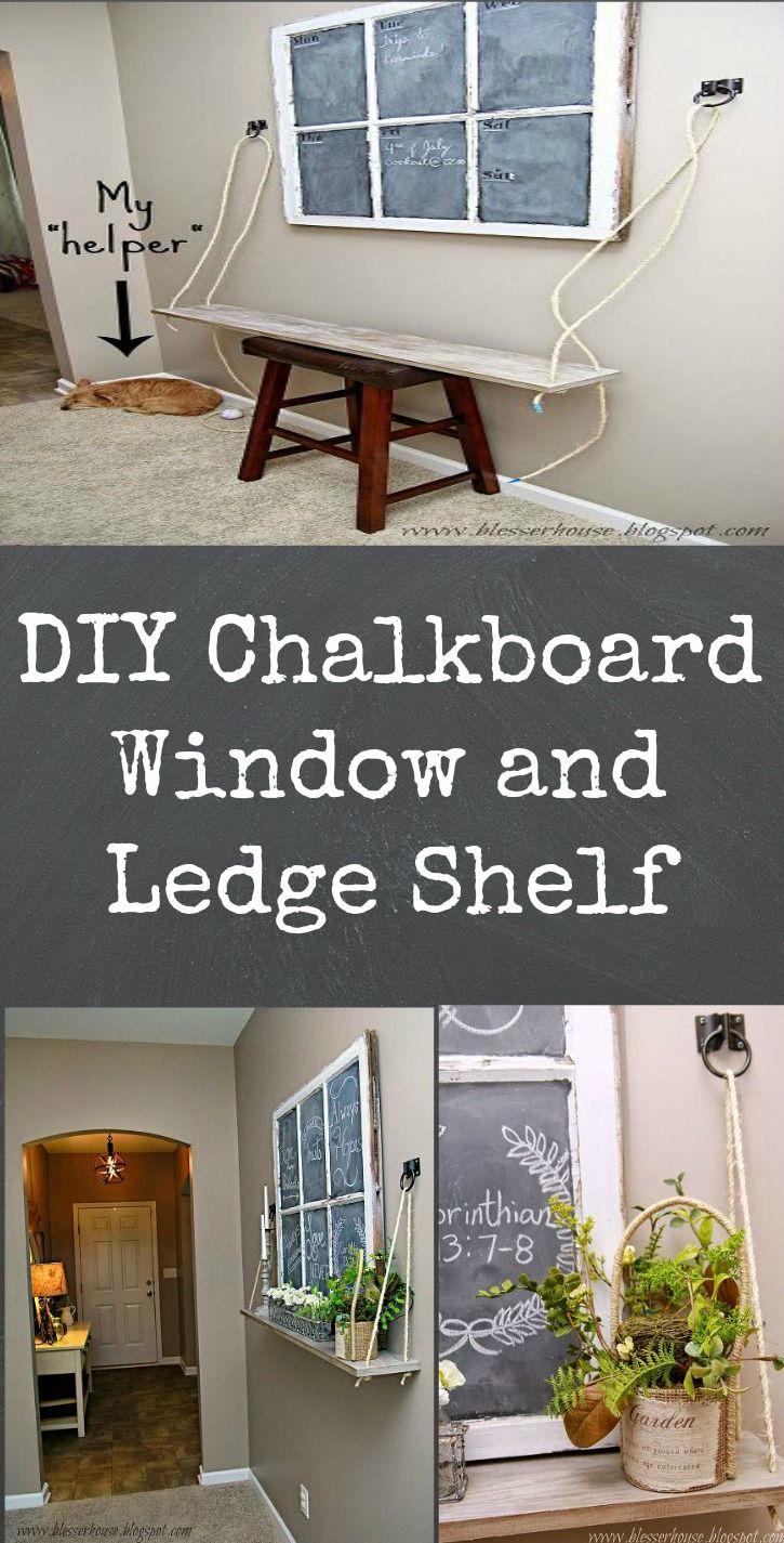 DIY Window Ledge Rope Shelf