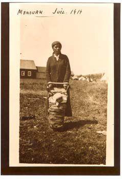 Atikamekw mother and child at Manawan, Quebec - 1919
