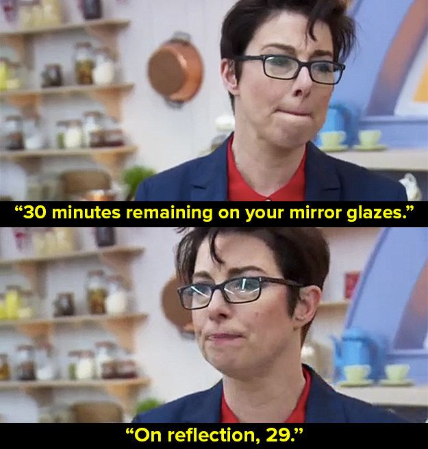 """When they all had to make a mirror-glaze cake. 