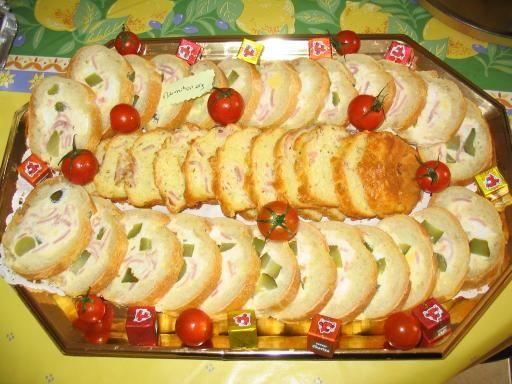 Recette Baguette fourrée au saint moret et au jambon