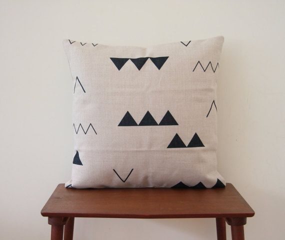 Scandinavian Pillow Cover 18x 18 Decorative Pillow by BeadandReel