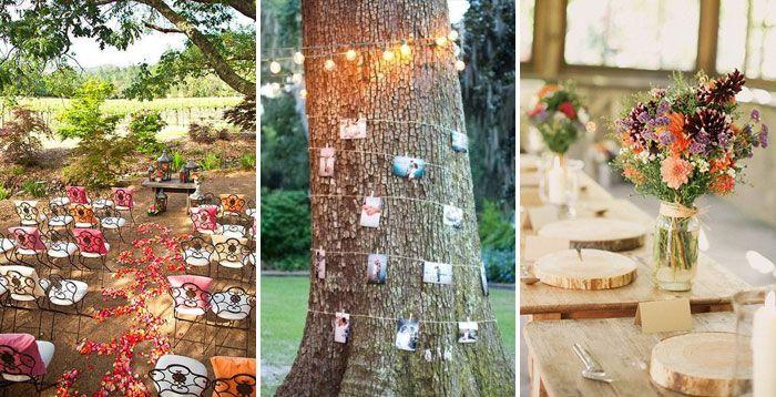 Декор места проведения свадьбы хиппи