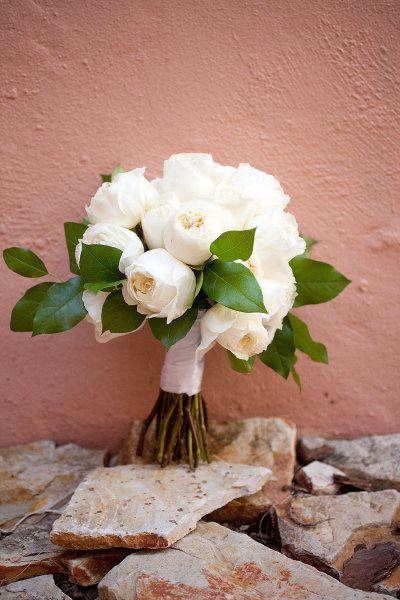 white roses bridal wedding flowers