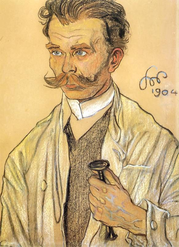 Stanisław Wyspiański (1869-1907) - Portret Lekarza (Portrait of a Doctor), 1904