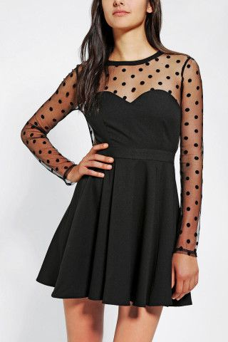 Polka Dot Mesh Dress