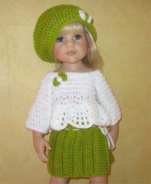 99- FICHE PATRON CROCHET Tenue Alessandra pour poupée Hannah de Götz : Jeux, jouets par atelier-crochet
