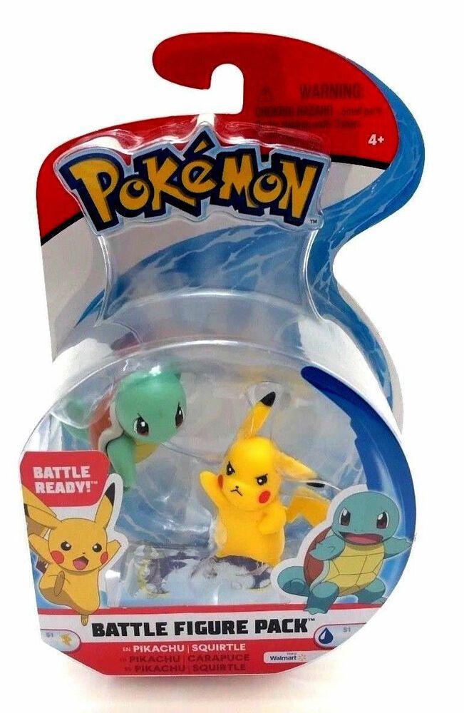 Battle Figure Pack Pikachu Squirtle Pokemon Battle Ready