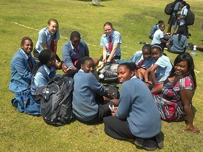 It's 11am in Harare, Zimbabwe and Gateway High School students are enjoying their break time. Mazwi Joan Shamu