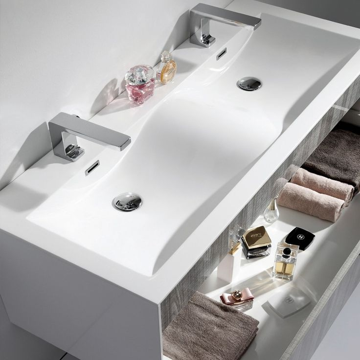 lusso stone encore double designer wall mounted bathroom vanity unit 1200 - Designer Bathroom Vanity Units