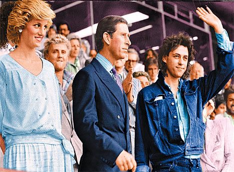charles and diana portraits   ... Diana at Live Aid withPrince Charles and Bob Geldof in 1985 at Wembley