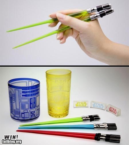 Lightsaber Chopsticks!