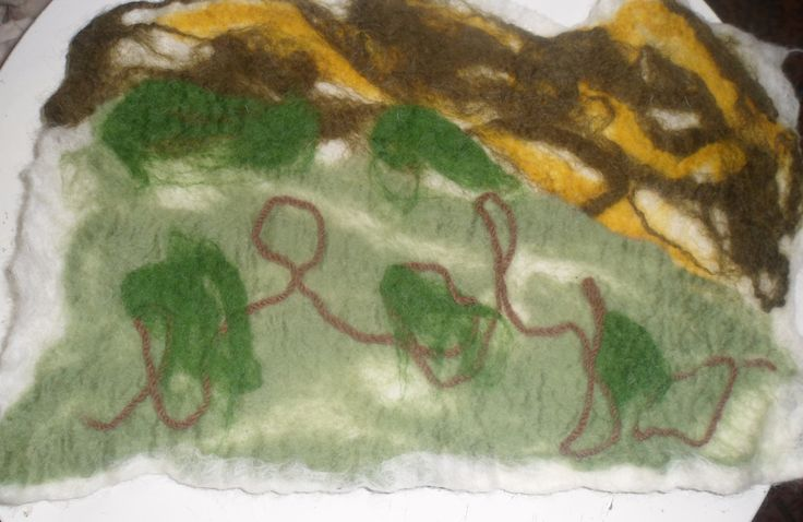 A piece of felt I made at a workshop held at Tapton Lock Festival.