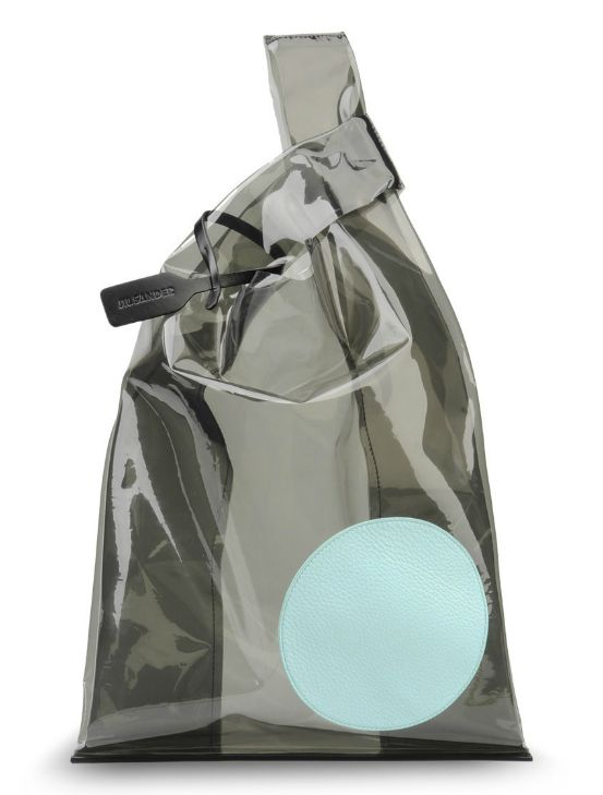 Jil Sander pvc and leather bag