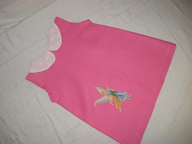 Mädchen Kleid    Gr. 86 92    Sehr schönes Mädchen Kleid mit Elfen Applikation und Spitzenkragen, hinten wird das Kleid mit einem Reißverschluss g...
