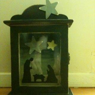 Shadowbox nativity: Shadowbox Native