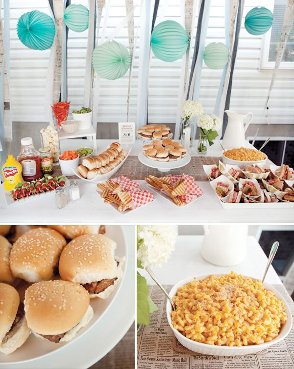 BBQ: Food Display, Birthday Parties, Summer Parties, Backyard Parties, Backyard Camps, Boys Birthday, Summer Cookout, Parties Ideas, Baby Shower