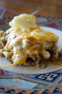 Breakfast casserole- from Paula Dean- with potatoes- refrigerate overnight.
