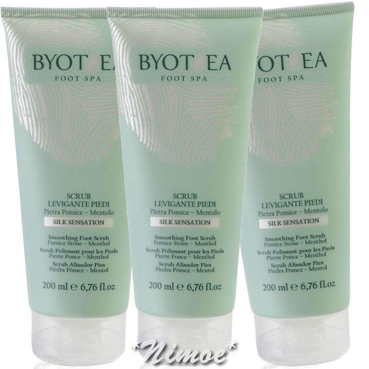 Smoothing Foot Scrub 3 x 200ml Foot spa Byothea ® Silk Sensation Levigante Piedi