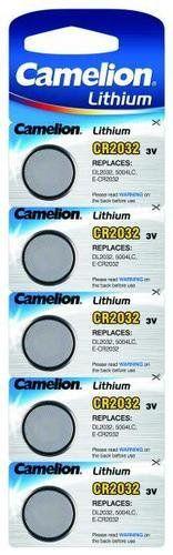 Camelion CR 2032-Pile bouton Lithium 3 V Blister de 5: Price:6 Source