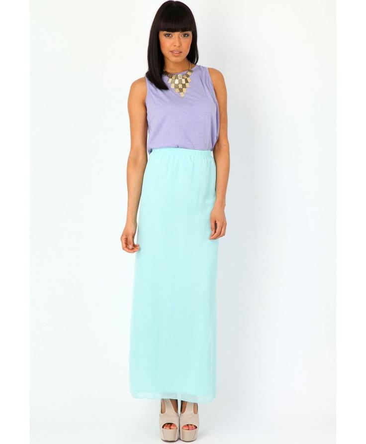 Danzie Sheer Maxi Skirt - skirts - missguided