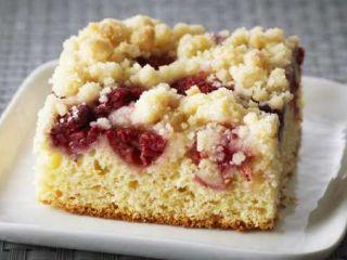 Torta de ricota y frambuesas en elgourmet