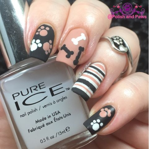 Best 25 dog nail art ideas on pinterest dog nails cute easy nail art challenge january prinsesfo Gallery