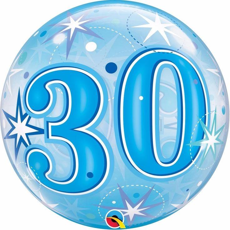 Folie helium ballon in het blauw van 30 jaar. Folie ballon met 30 jaar geworden opdruk. De folie ballon is ongeveer 55 cm groot. Deze folie ballon wordt gevuld met helium geleverd en kan derhalve niet geretourneerd worden.