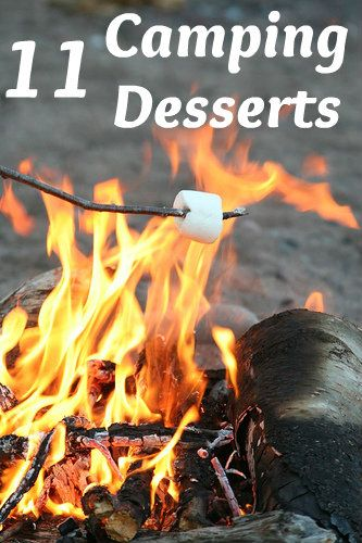 ~ 11 Delicious Camping Desserts ~ I would probably campout in the backyard and make these in the fire pit.