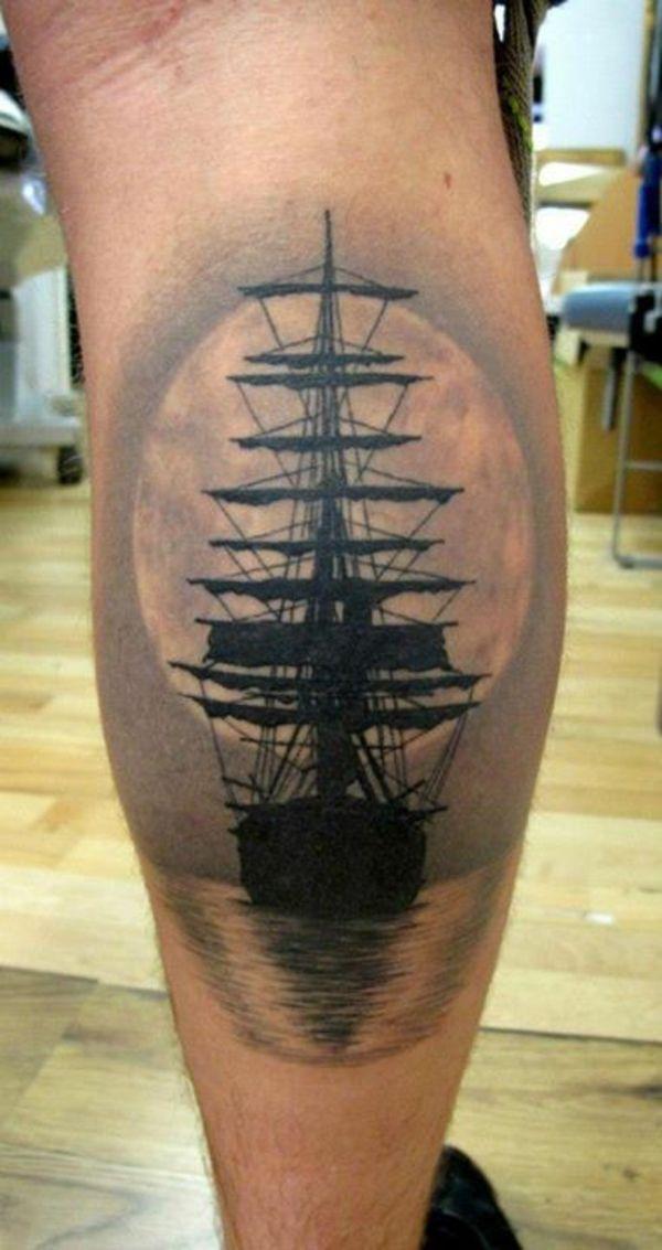 unique tattoos 3d design am bein schiff
