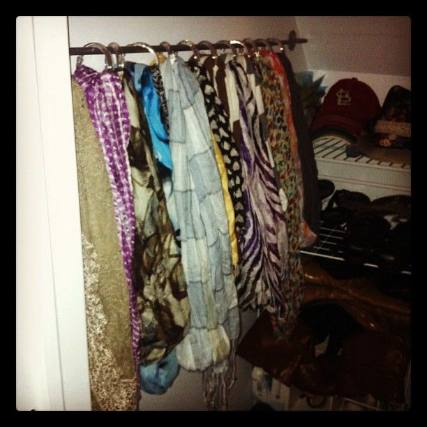 ... IKEA (5.00) and the scarves are hanging from Shower Curtain rings