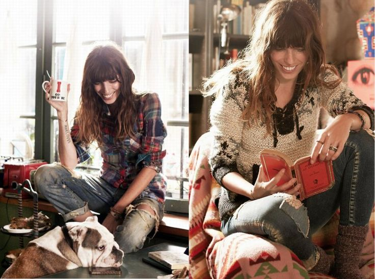Model Approved:Lou Douillon for Free People catalogue