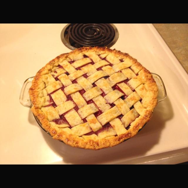 My wildberry pie (tastes like Perkins pie but a billion times better)
