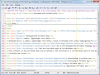 lightweight text editor Notepad2-mod is a lightweight text editor with syntax highlighting for a few commonly used languages and some new features beyond regular Notepad2 like code folding, bookmarks and additional languages.