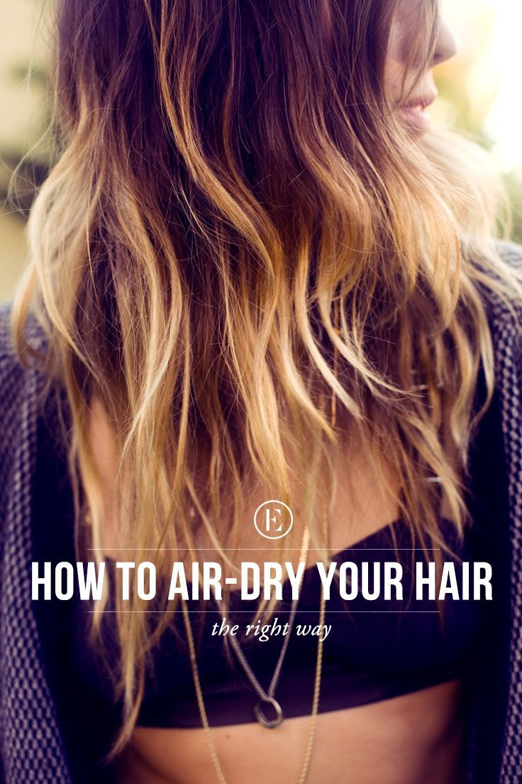 Beach Hair 101: The Right Way to Air Dry Your Hair #theeverygirl: