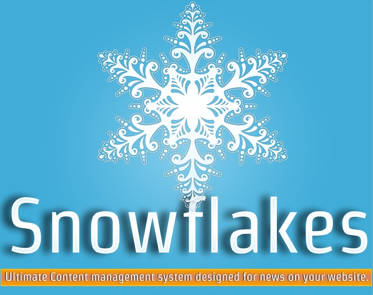 Snowflake is an ultimate Content management System design for news on your website