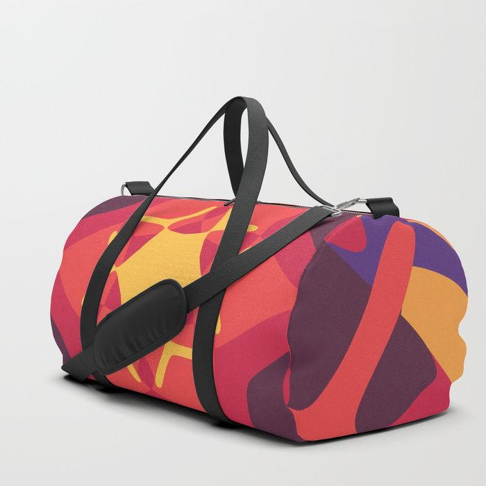 The Weirdest Sunset Duffle Bag by greennatural | Society6