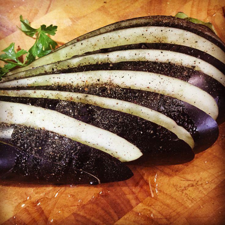 Preparing the aubergines for the ultimate Greek delicacy... Moussaka - Ετοιμάζοντας τις μελιτζάνες για τον Μουσακά #visitgreece #visitloutraki #Loutraki #localfood #loveloutraki #greekfood #moussaka #mousaka #kitchen #lifokitchen #restaurant #instafood #food #foodpic #aubergines #recipe #recipeoftheday #cook #eat #foodloutraki