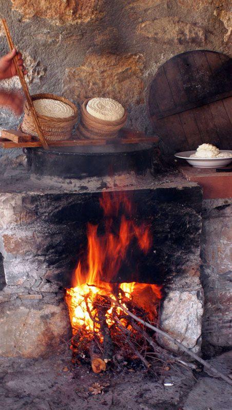 Cretan Diet Greece: Enagron Ecotourism Village Axos Rethymno Crete, cheese making