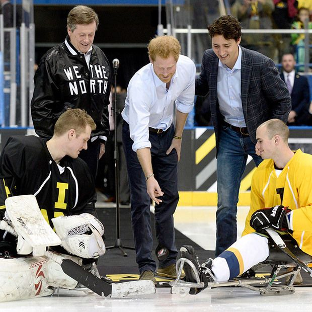Prince Harry says 'everything happens on the ice' in Canada during Toronto sledge hockey game