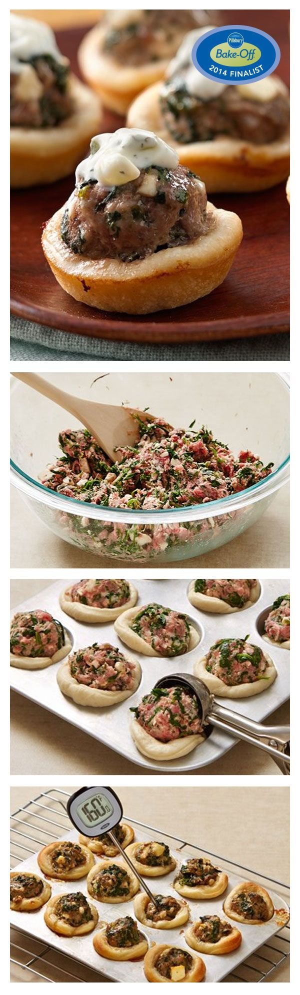 47th Bake-Off Contest Finalist: Greek-Style Meatball Bites by Susan Krauss from Redwood City, CA