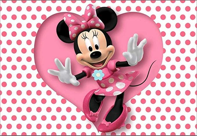 White Minnie Mouse Backdrop Polka Dot Sweet Heart Photography