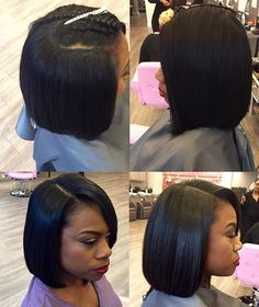 quick weave Bob    Quick weaves are a great way to try out different looks and…