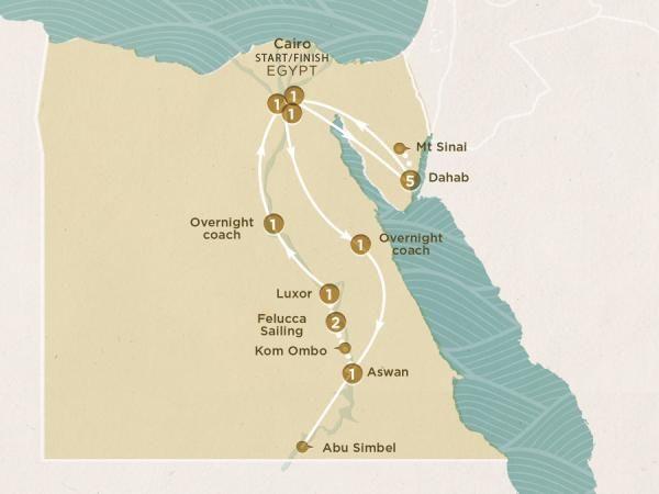 2016 Map of Pyramids & Beaches trip - MXEPCC