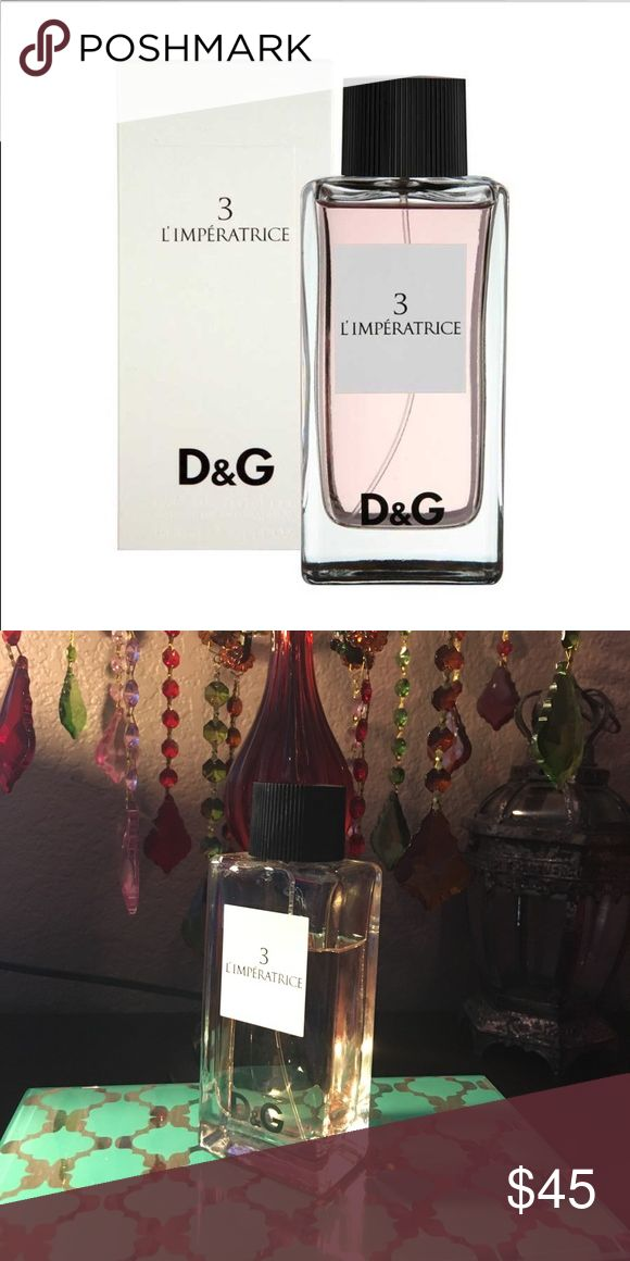 Dolce & Gabbana Perfume #3 This perfume is very feminine, floral and aquatic which features notes of watermelon, kiwi, pink cyclamen and musk. It's about 20% used I would say. It's a very nice perfume, Light, fresh and fruity. Sephora Makeup