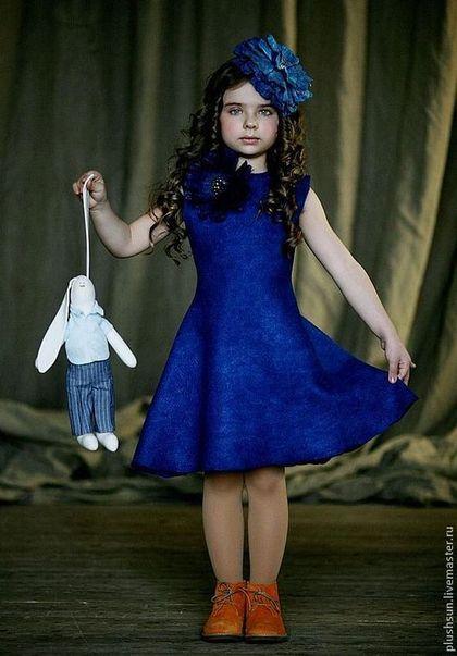 Одежда для девочек, ручной работы. Валяное платье  для девочки «На дне океана». Irina Demchenko. Интернет-магазин Ярмарка Мастеров.