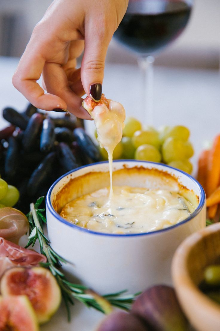 Herb and honey baked camembert