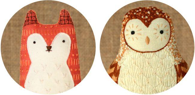 DIY embroidery kit plushies