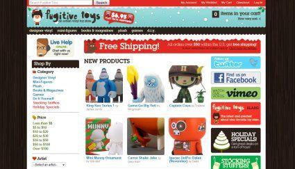 Fugitive Toys creative #ecommerce web design sample
