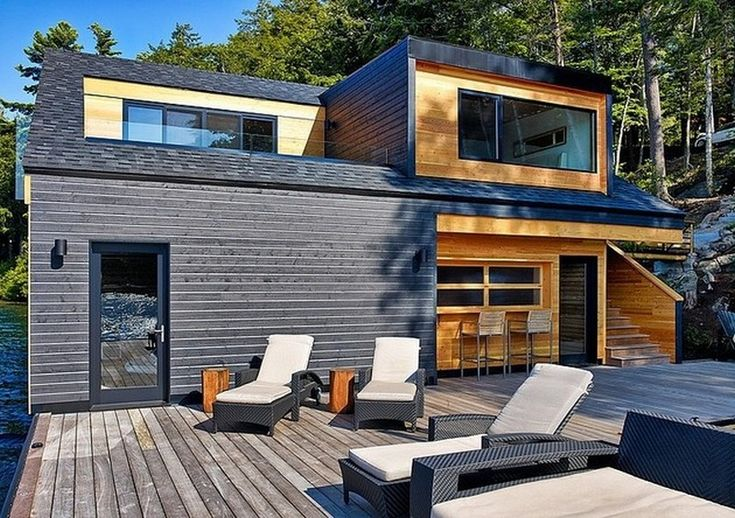 floating wooden house 8 Floating Lake House in Upstate New York by Altius Architecture
