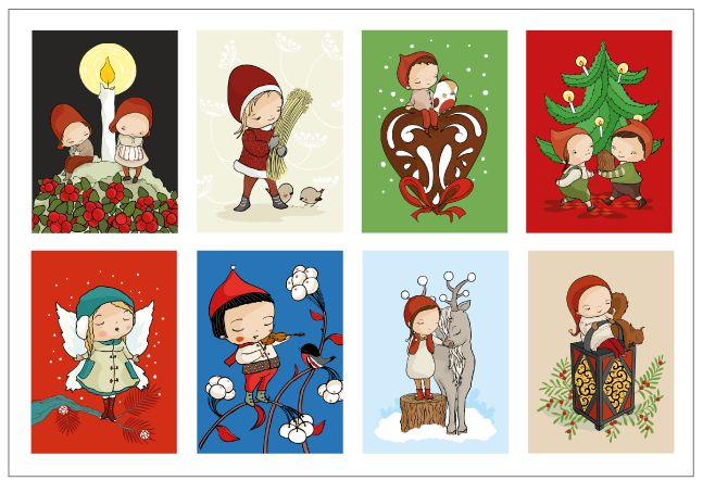 Christmast postcard set via Terese Bast Papershop. Click on the image to see more!